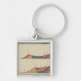 Aspen Special Sheet Silver-Colored Square Key Ring