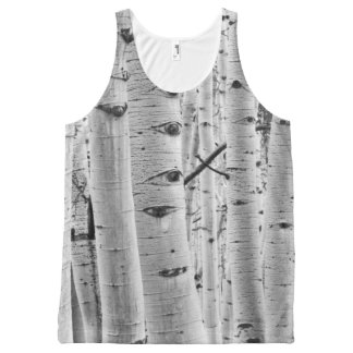 Aspen Tree Bark Camo All-Over Print Tank Top