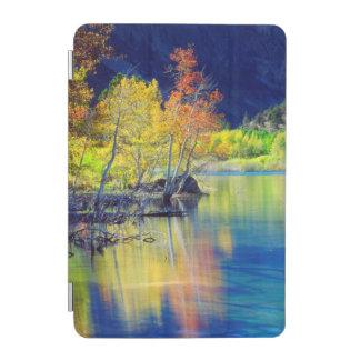 Aspen tree in autumn reflecting in Grant Lake iPad Mini Cover
