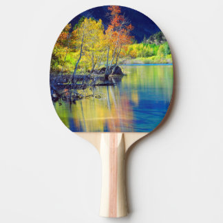 Aspen tree in autumn reflecting in Grant Lake Ping Pong Paddle
