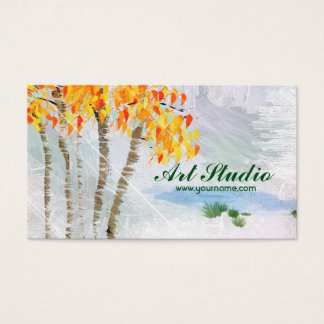 Aspen Trees Art Studio Business Card