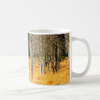 aspen trees coffee mug basic white mug