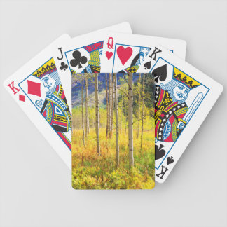 Aspen Trees in Autumn in the Rockies Bicycle Playing Cards
