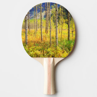 Aspen Trees in Autumn in the Rockies Ping Pong Paddle
