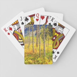 Aspen Trees in Autumn in the Rockies Playing Cards