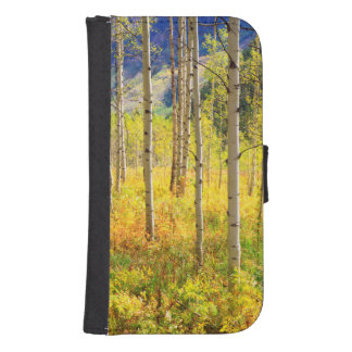 Aspen Trees in Autumn in the Rockies Samsung S4 Wallet Case
