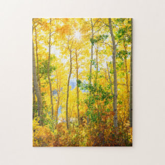 Aspen Trees In Fall | Sierra Nevada Mountains, CA Jigsaw Puzzle
