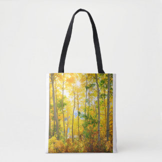Aspen Trees In Fall | Sierra Nevada Mountains, CA Tote Bag