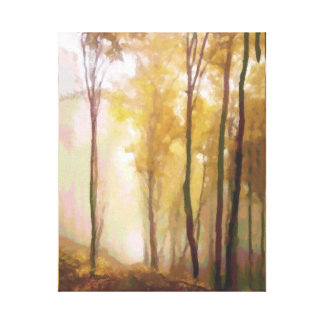 Aspen Trees in the Morning Mist Canvas Print
