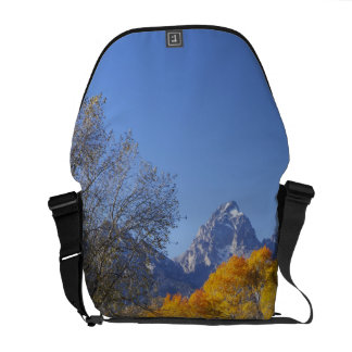 Aspen trees with the Teton mountain range 3 Messenger Bag