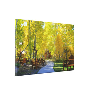 """Aspen Walkway"", Autumn, Wrapped Canvas"