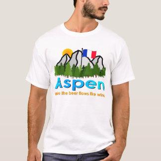Aspen: Where the Beer Flows Like Wine T-Shirt
