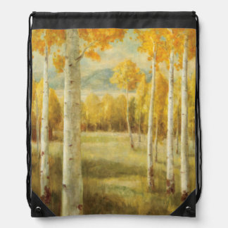 Aspens in Autumn Drawstring Bag