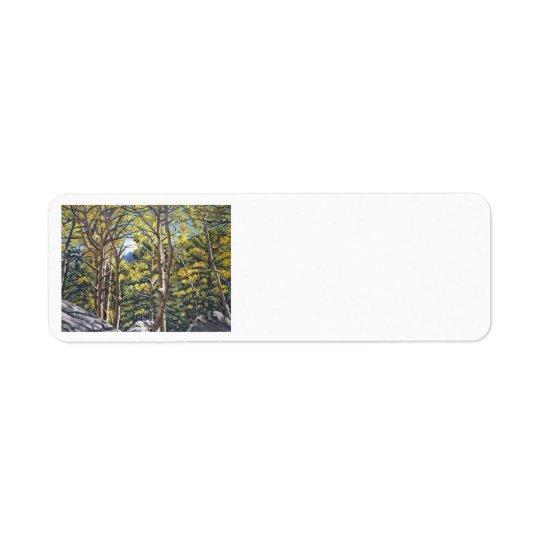 Aspens in Estes Oil Landscape Painting