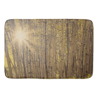 Aspens in Summer Tree Landscape Bath mat