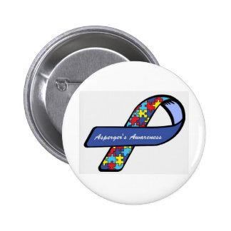 Asperger's Awareness Ribbon 6 Cm Round Badge