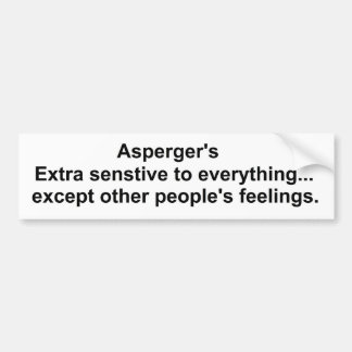 Asperger's gear bumper sticker