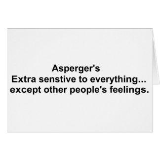 Asperger's gear greeting card