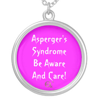Asperger's Syndrome Be Aware and Care! Round Pendant Necklace