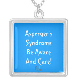 Asperger's Syndrome Be Aware and Care! Square Pendant Necklace