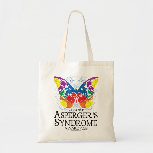 Asperger's Syndrome Butterfly Tote Bags