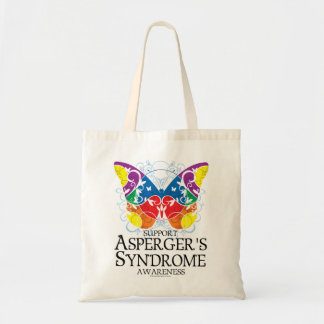 Asperger's Syndrome Butterfly Budget Tote Bag