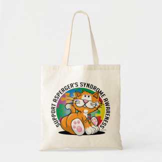 Asperger's Syndrome Cat Tote Bag