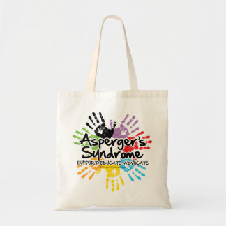 Asperger's Syndrome Handprint Budget Tote Bag