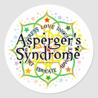 Asperger's Syndrome Lotus Classic Round Sticker