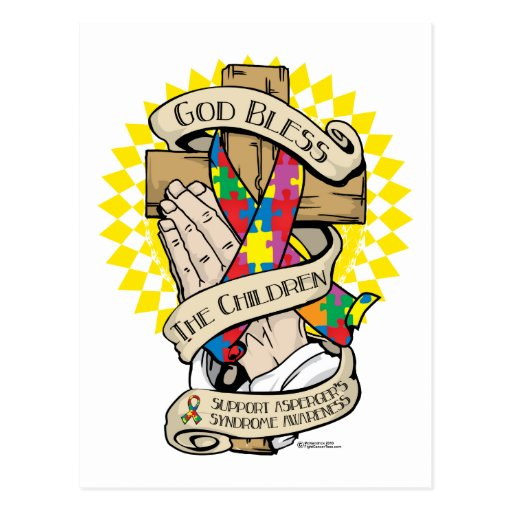 Asperger's Syndrome Praying Hands Post Cards