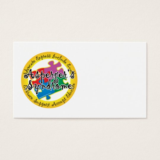 Asperger's Syndrome Puzzle Pin Business Card