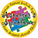 Asperger's Syndrome Puzzle Pin Photo Cut Out