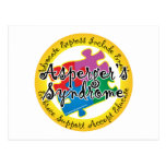 Asperger's Syndrome Puzzle Pin Postcard
