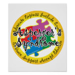 Asperger's Syndrome Puzzle Pin Poster