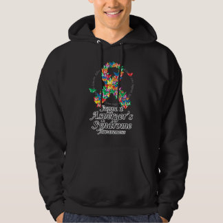 Asperger's Syndrome Ribbon of Butterflies Hoodie