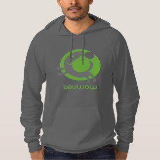 Asphalt Hoodie with Green and Grey bauwow logo