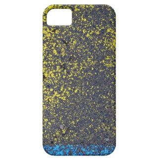 asphalt paint texture abstract street urban yellow iPhone 5 cover