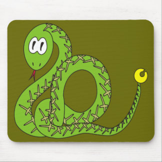 Aspid The Funny Rattlesnake Mouse Pad