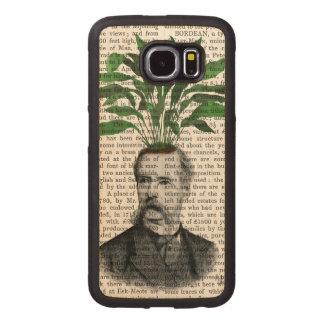 Aspidistra Head Plant Head Wood Phone Case