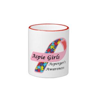 Aspie Girls Ringer Mug