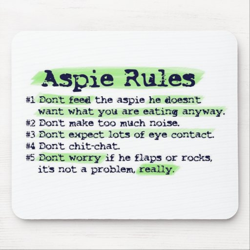 Aspie Rules Mouse Pad