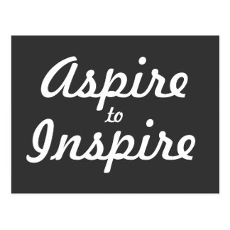 Aspire Inspire Motivational Postcard