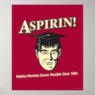 Aspirin: Make Morning Class Possible Poster