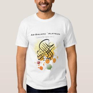 Assalamu 'alaikum - Arabic calligraphy Art Tshirts
