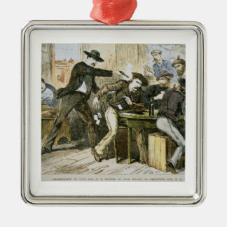 Assassination of 'Wild Bill' (W.B. Hickok) by Jack Christmas Ornament