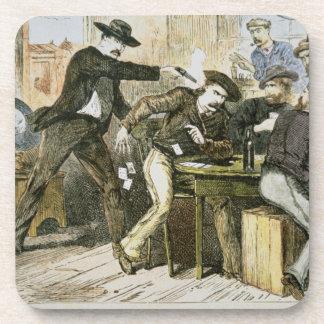 Assassination of 'Wild Bill' (W.B. Hickok) by Jack Drink Coaster