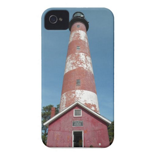 Assateague Island Lighthouse Looking Up iPhone 4 Case-Mate Cases