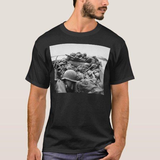 Assault Boat Crossing the Rhine in World War