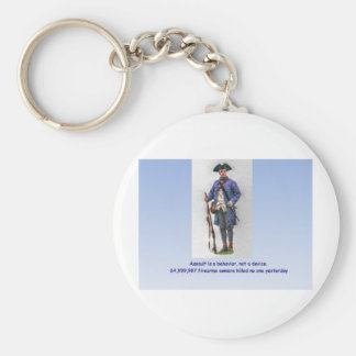 ASSAULT IS A BEHAVIOR NOT A DEVICE BASIC ROUND BUTTON KEY RING