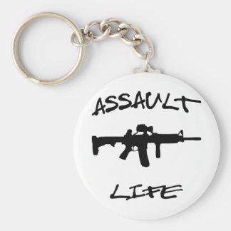 Assault Life Assault Weapon © WhiteTigerLLC.com Keychains